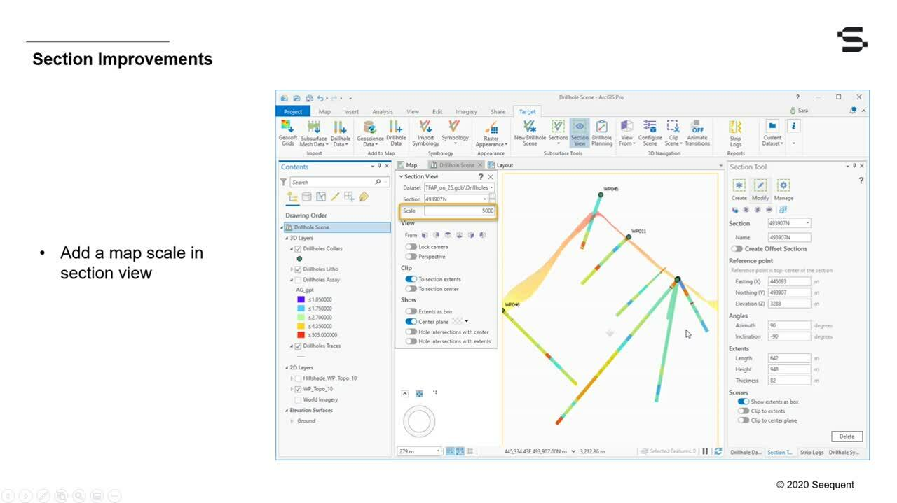 Target for ArcGIS Pro 2.2 – Enhancements for better visualization and interpretation of drillhole data