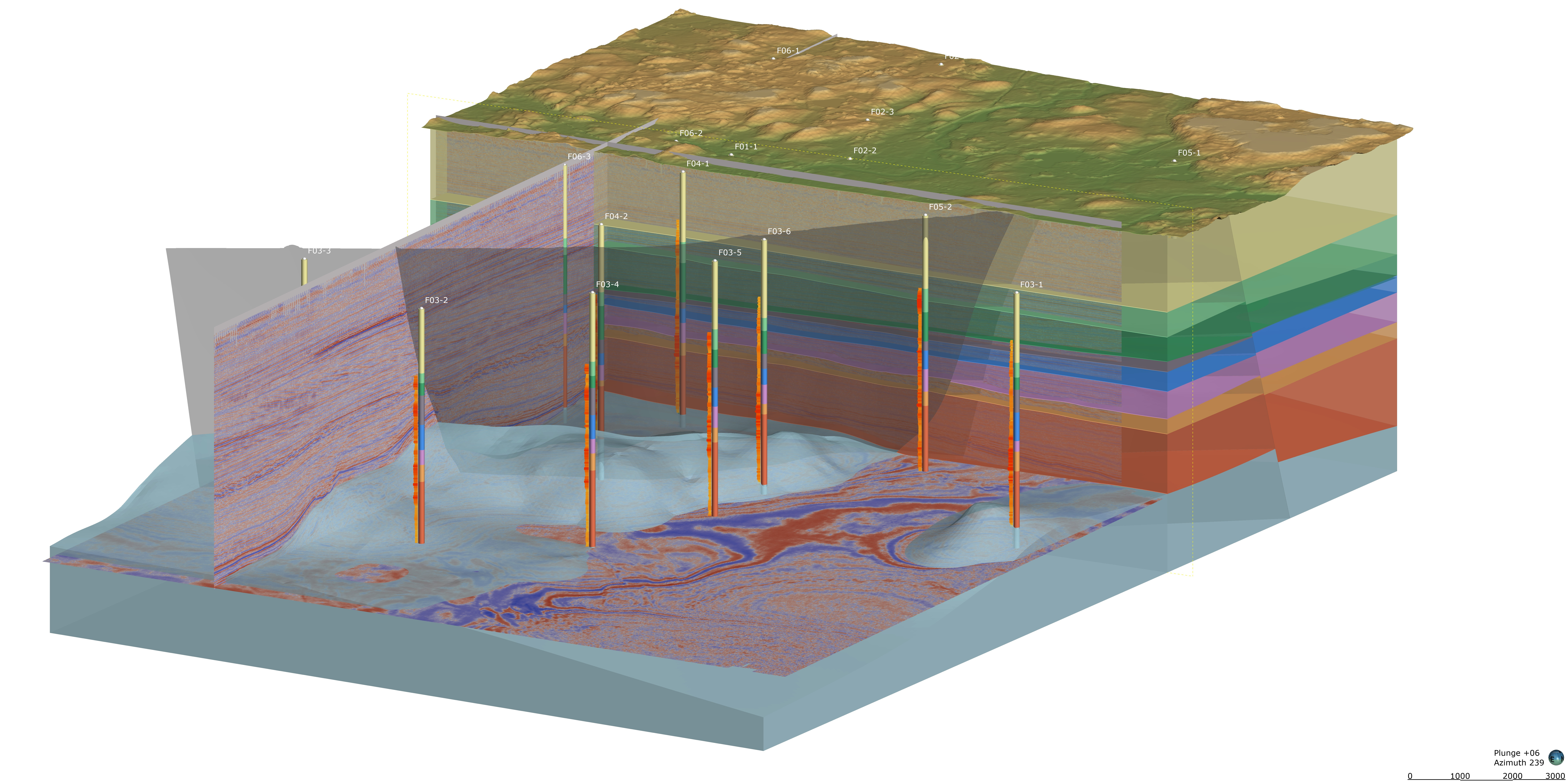 Visualise seismic data in 3D with Leapfrog Geothermal 2021.1